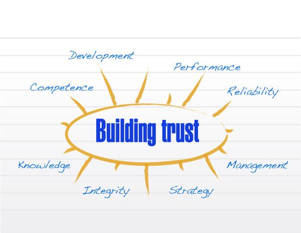 Building Trust Model Illustration Design